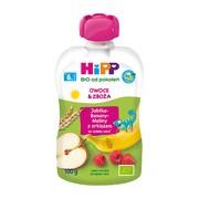 HiPP HiPPiS BIO, mus jabłka, banany, maliny ze zbożami, po 6. miesiącu, 100 g