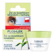 FlosLek Laboratorium Pielęgnacja Oczu, żel ze świetlikiem lekarskim i herbatą do powiek i pod oczy, 10 g