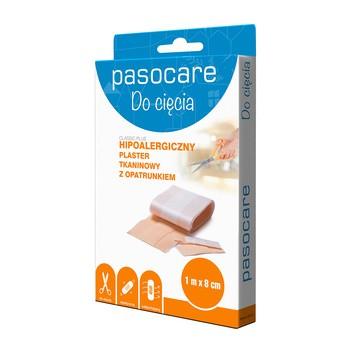 Pasocare Classic Plus, plaster tkaninowy z opatrunkiem, 1 m x 8 cm, 1 szt.
