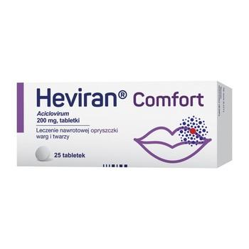 Heviran Comfort, 200 mg, tabletki, 25 szt.