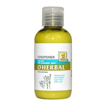 O`Herbal, odżywka do włosów suchych i zniszczonych, ekstrakt z lnu, 75 ml