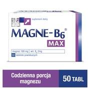 Magne-B6 Max, tabletki powlekane, 50 szt.