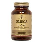 Solgar Omega 3-6-9 z ryb, siemienia lnianego i ogórecznika, kapsułki, 60 szt.