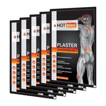 Zestaw 5x Hot Plast, plaster rozgrzewający, 9 x 14 cm