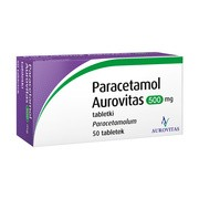 Paracetamol Aurovitas, 500 mg, tabletki, 50 szt.