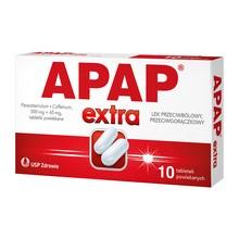 Apap Extra, 500 mg + 65 mg, tabletki powlekane, 10 szt.