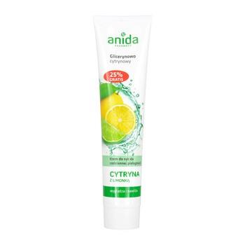 Anida, krem do rąk, glicerynowo-cytrynowy z limonką, 125 ml