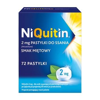 Niquitin, 2 mg, pastylki do ssania, smak miętowy, 72 szt.