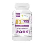 Wish Witamina B3 500 mg + L-leucyna + prebiotyk, kapsułki, 120 szt.