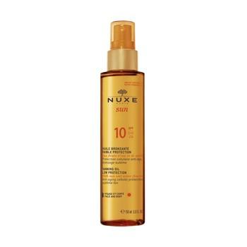 Nuxe Sun, brązujący olejek do opalania, do twarzy i ciała, SPF 10, 150 ml (spray)