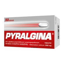 Pyralgina, 500 mg, tabletki, 50 szt.