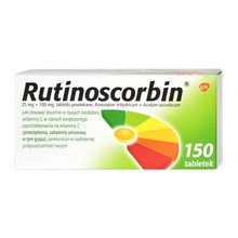 Rutinoscorbin, tabletki powlekane, 150 szt.
