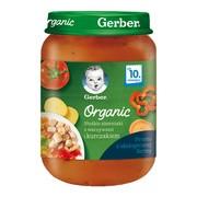 Gerber Organic, obiadek słodkie ziemniaki z warzywami i kurczakiem, 10 m+, 190 g