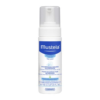 Mustela Bebe-Enfant, szampon w piance dla niemowląt, 150 ml