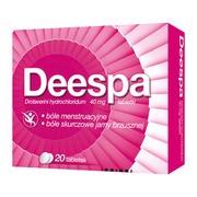 Deespa, 40 mg, tabletki, 20 szt.