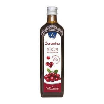 Żurawina 100%, sok z owoców żurawin, 490 ml