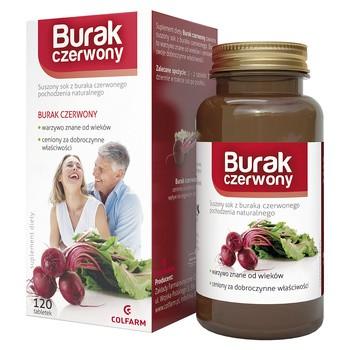 Burak czerwony, tabletki, 120 szt. (Colfarm)