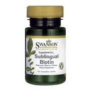 Swanson Biotyna, tabletki do ssania, 60 szt.