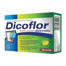 Dicoflor Elektrolity, proszek, 6 porcji (12 saszetek)