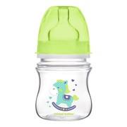 Canpol Easy Start Toys, butelka szerokootworowa, antykolkowa, zielona, 120 ml