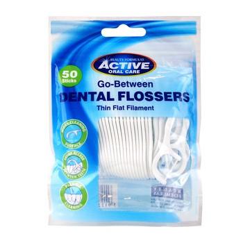Active Dental Flossers, nicio-wykałaczki, 50 szt.
