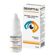 Dexoftyal MD, nawilżające i regenerujące krople do oczu, 15 ml