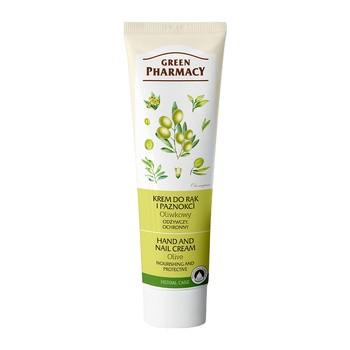 Green Pharmacy, odżywczy, ochronny krem do rąk i paznokci, oliwkowy, 100 ml