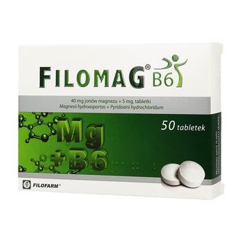 Filomag B6, 40 mg + 5 mg, tabletki, 50 szt.