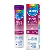Plusssz 100% Multiwitamina + Żeń-Szeń, tabletki musujące, 20 szt.