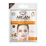 Equilibra, arganowa przeciwstarzeniowa maseczka do twarzy, 2 x 7,5 ml