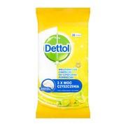 Dettol chusteczki do czyszczenia powierzchni, limonka i cytryna, 32 szt.