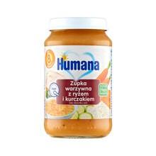 Humana 100% Organic, zupka warzywna z ryżem i kurczakiem, 8 m+, 190 g