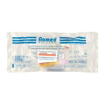 Przyrząd do przetaczania krwi, Romed, z igłą, 1 szt