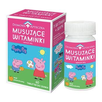 Musujące Witaminki Peppa Pig, tabletki do ssania, 60 szt.