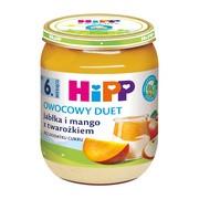 HiPP BIO, jabłka i mango z twarożkiem, po 6. miesiącu, 160 g