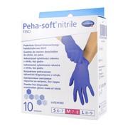 Rękawice Peha-Soft Nitrile Fino, bezpudrowe, diagnostyczne, rozmiar M, 10 szt.