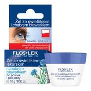 FlosLek Laboratorium Pielęgnacja Oczu, żel ze świetlikiem lekarskim i chabrem bławatkiem, 10 g