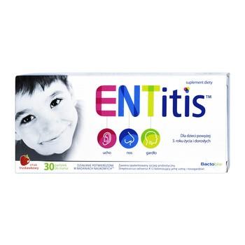 ENTitis, pastylki do ssania, smak truskawkowy, 30 szt.