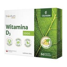 Biovitum Liquid Witamina D3 2000, kapsułki, 60 szt.