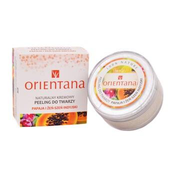 Orientana, naturalny kremowy peeling do twarzy, papaja i żeń-szeń indyjski, 50 g