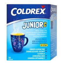 Coldrex Junior C, proszek do sporządzania roztworu doustnego, 10 saszetek