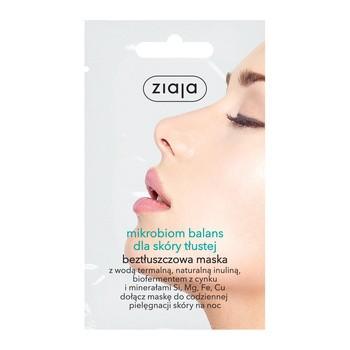 Ziaja Mikrobiom Balans, maska do twarzy dla skóry tłustej, 7ml (saszetka)