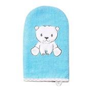 Baby Ono, myjka do kąpieli, bambusowa, niebieska, 1 szt.