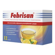 Febrisan, proszek musujący o smaku cytrynowym, 5 g, saszetki, 12 szt.