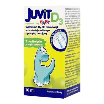 Juvit Baby D3, płyn (krople), 10 ml