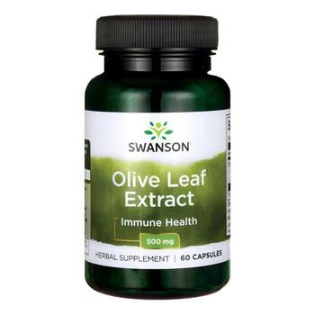 Swanson Olive Leaf Extract, 500 mg, kapsułki, 60 szt.