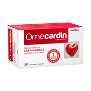 Omecardin, EPA+DHA, kapsułki, 50 szt.