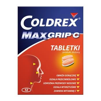 Coldrex MaxGrip C, tabletki, 12 szt.