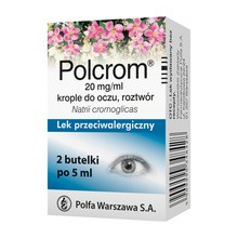 Polcrom, 20 mg/ml, krople do oczu, 2 x 5 ml