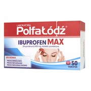 Laboratoria Polfa Łódź Ibuprofen Max, 400 mg, tabletki powlekane, 50 szt.